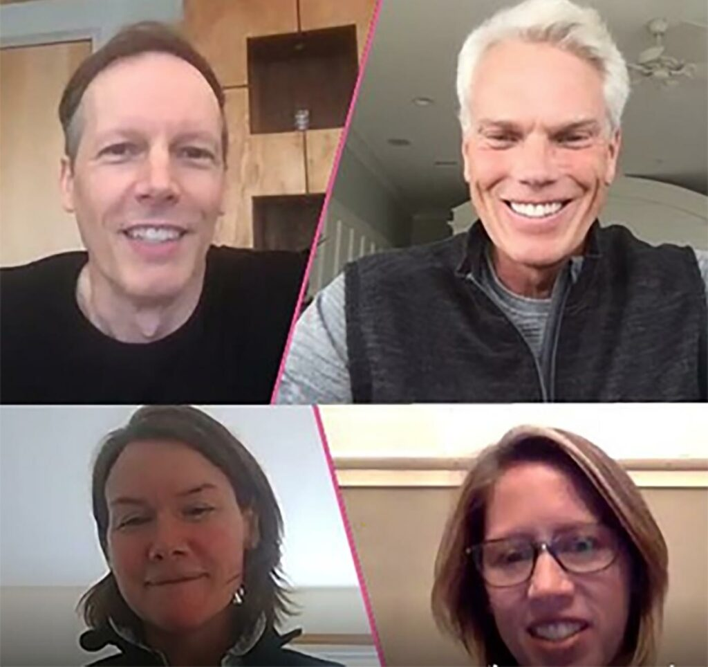 Group discussion with Core10 Co-founder and President Lee Farabaugh, Core10 investor Jim McKelvey, Brad Smith and Core10 board member Sarah Biller
