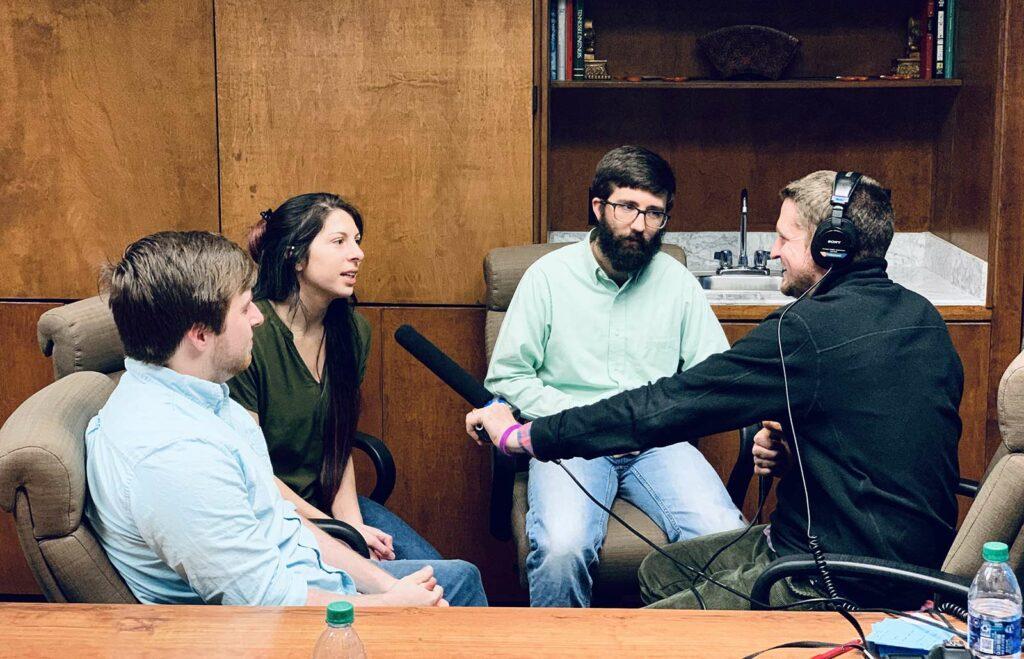 Software team interviewing